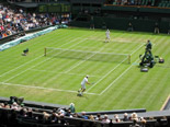 Tennis match at Wimbledon